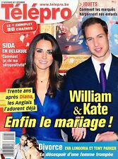 french magazine Télépro N°2960 kate middleton william parker eva longoria 2010