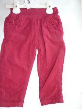 H/W 16/17 Steiff ENCANTADORA Día Pantalones de pana, Sangria Rojo talla 74 + 80
