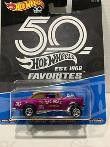 Hot Wheels 50th Favorites Exclusive - Hot Pink 55 Chevy Bel Air Gasser HTF !!!!!