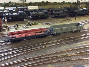 Kitbuilt 2 x Bogie Wagons. 1 x ex GWR Type Bolster, I ex LMS  HIgh Sided