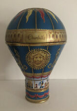 CHURCHILLS CONFECTIONERY BLUE VICTORIAN HOT AIR BALLOON TIN BANK