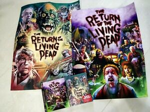 RETURN OF THE LIVING DEAD (RARE Blu-ray with EXTRA SLIPCOVER + 2 POSTERS) OOP