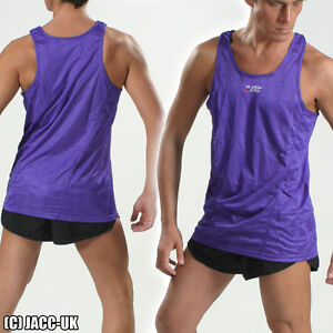 NEW S Shiny Mens View From Run Athletics Muscle Gym Vest Tank Top Int.SH395