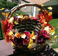 Wicker Basket - Fall Flowers - Autumn Gift - Autum Basket