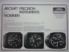 1982-86 PUB THOMMEN WALDENBURG SUISSE AIRCRAFT PRECISION INSTRUMENT AVIATION AD