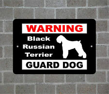 Black Russian Terrier warning GUARD DOG breed metal aluminum sign