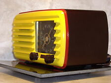 Professionally Restored Antique Vintage Tube Awning Radio Real Art Deco Zenith