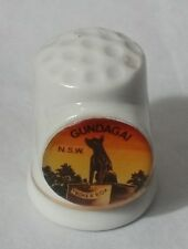 "COLLECTABLE VINTAGE ""GUNDAGAI -TUCKER BOX""N.S.W SOUVENIR THIMBLE"