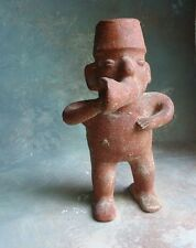 Aztec Mayan Inca South America Tribal Art Clay Terracotta Figurine Sculpture
