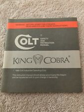 Colt 1986 King Cobra Manual