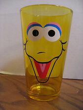 Sesame Street - 16 oz. Drinking Glass - Big Bird Face - Clear Yellow Cup