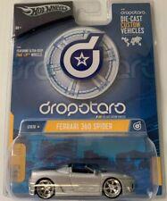 Rare New HOT WHEELS FERRARI 360 SPIDER DIECAST 1/50 Scale Dropotaro Silver G7070