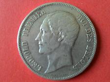 5 frs . LEOPOLD PREMIER.ROI DES BELGES.1850.POINT AU DESSUS DE LA DATE.