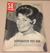 VIVI BAK DANISH SINGER BLACK HAIR ON A FRONT COVER VINTAGE Danish Magazine 1959.