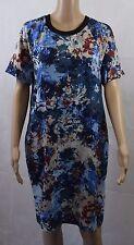Kinn by John Lewis Dress Size UK 8 Blue Grey Abstract Floral Print