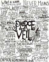 Pierce The Veil Music Band Group Fabric Art Cloth Poster 17inch x 13inch Decor 8