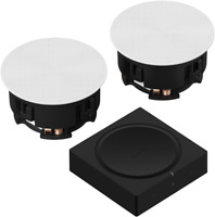 Sonance Speakers Pair & Sonos amp kit in ceiling, wall, trueplay (sonus)