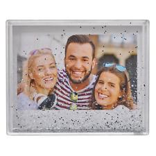 Fujifilm Instax Wide Frame Rahmen - mit Schneekugel Effekt -glitzer Silber