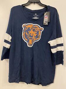 NFL Chicago Bears Women's 3/4 Sleeve T-Shirt Size XL NWT