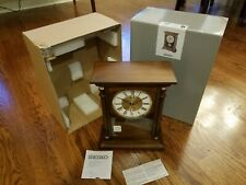 Seiko Qxq034Blh Pendulum Chime Base White Dial Quarter Hour Mantle Clock
