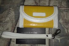 Bodhi Yellow white Italian Soft Leather iPhone 4/4S Wallet Wristlet croc print
