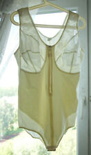 Vintage White Corset Girdle Body Polyamid All-In-One L 105D