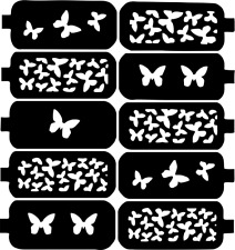 Butterfly Nail Art Vinyl Stencil Guide Sticker Manicure Hollow Template