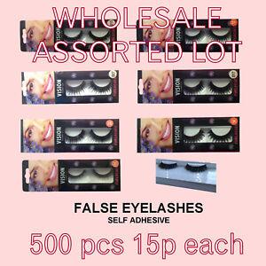 wholesale clearance lot false eyelashes mixed styles 500 pc15p each without glue