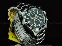 NWT Invicta Men 45mm Pilot Tachymeter Specialty Chronograph Black Dial SS Watch