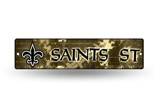 """New Orleans Saints Street Sign NEW! 4""""X16"""" """"Saints St"""" Man Cave NFL"""