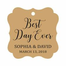 Darling Souvenir Personalized Fancy Frame Wedding Gift Tags 'Best-acn