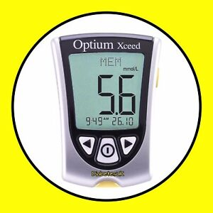 FreeStyle Optium Xceed Blood Glucose & Ketone Meter - Single Unit Meter Only