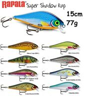 NEW Rapala Super Shadow Rap 15 cm 77g Fishing Lure Predator Various Colours SSDR