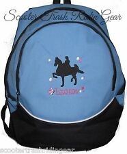 Saddlebred Horse BLUE Backpack Book Bag PERSONALIZED New school tote equestrian