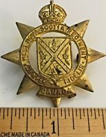West Nova Scotia Regiment Badge with King's Crown