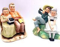 "Vtg Napco Seasons Of Love Figurines-Autumn & Spring Appx 5 1/2""L Set Of 2"