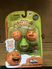 "Annoying Orange 1.25"" 3-Pack Mini Kitchen Crew Figures PEAR Toys **NEW**"