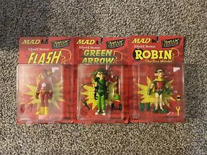 DC Direct MAD Magazine Series 1 Alfred E Neuman Figure Lot Robin Flash Arrow