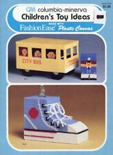 Children's Toy Ideas Bus Bank Mobile Rattle Plastic Canvas Pattern Leaflet