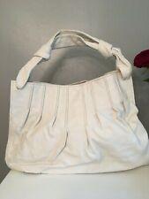 MIU MIU White Buffalo Leather Large Hobo Bag