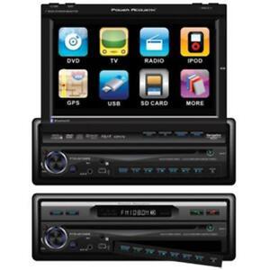 Power Acoustik PTID8920B 1-DIN Digital 7 in. Flip-Up TFT-LCD Touchscreen A-V ...
