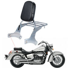 Chrome Backrest Sissy Bar with Luggage Rack For Honda Shadow VT400 VT750 VT 750