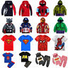 Toddler Kids Boys Superhero Hoodie Coat Sweatshirt T-Shirt Outfits Clothes Set