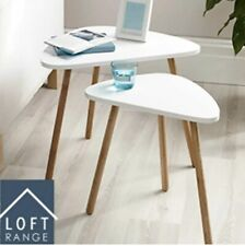 Loft Range | Nest of Two Tables | White | Contemporary Design