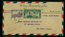 Dominican Republic Airmail Cover Santo Domingo to Ny franked Scott C12, 279