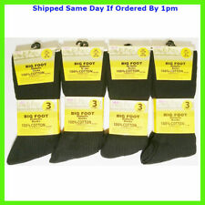 Da Uomo 3 Pack Wide Loose Non Elastico Top Caldi Termici sottili Diabetic Socks UK 6-11