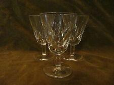 3 verres à vin blanc cristal de saint Louis (white wineglasses) Bidassoa