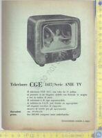 CGE - Televisore CGE 1417 - Serie ANIE TV- Anni '60