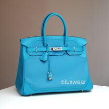 Turquoise Togo/Swift & Palladium 35cm HERMES BIRKIN BAG