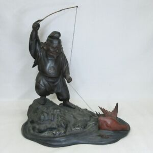 A204: High-quality Japanese TOKYO-DOKI copper ware EBISU statue with great work